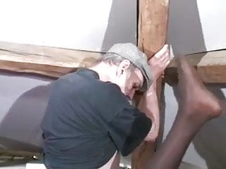 Interracial ebony french anal...