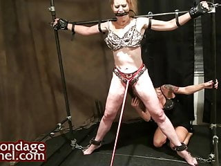Young girl whips milf and makes her cum...