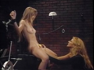 Blonde takes pain from lesbian dominant girlfriend...