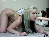 Another girl blows dildo machine (2)