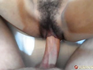 Asian Sex Diary - Asian babe with tight body gets creampie