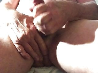 An old man is masturbating