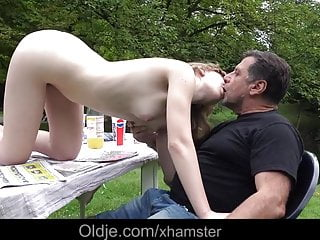 French Young Girl Outdoor Oral Slutty Sex Mouth Dirty Of Cum