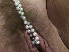 Pearls Up The Pussy with AleXXXis