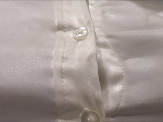 satin blouse of hofredo is stained with cum