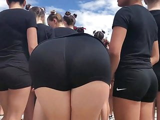 Beach Teen porno: Candid Asses MEGAMIX Many PAWGS