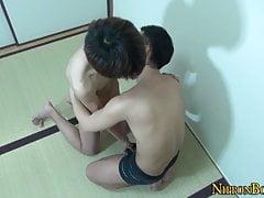 Japanese twink pounds guys ass