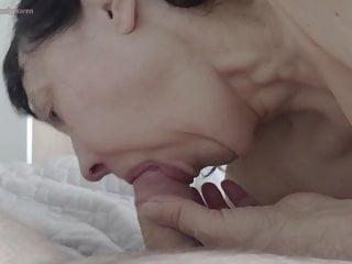 Lingerie Brunette Mature video: Marika sucking