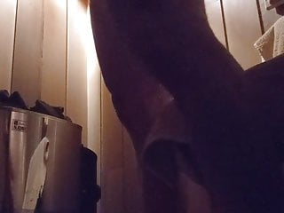 Sweaty and stroking myself in the sauna 2
