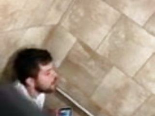 Hot Guy Caught Jerking Cock in Toilet Stall