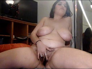 hairy Chaturbate BBW Hot pussy masturbates on with