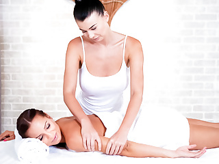 LETSDOEIT – Tinder Therapeutic massage Date Leads To Lesbian Orgasm