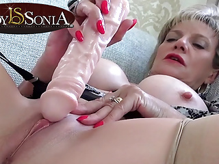 Sexy mature Lady tickling Sonia her clit