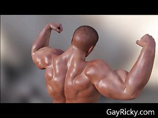 3d animation of muscle hunk duncan from gayricky...