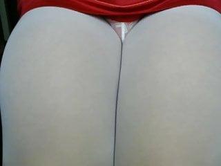 crossdresser pantyhose and purple panties 012