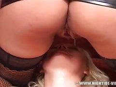 lesbians piss