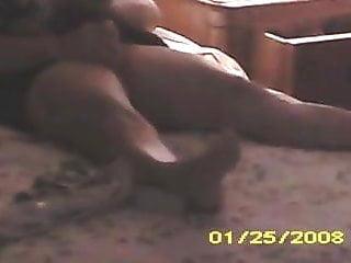 Voyeur Wife Home video: wife masturbating home alone vibrator dildo