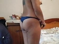 My wife undresses for my friend!