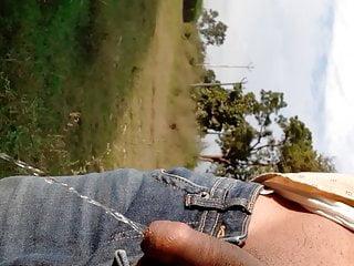 Pissing in Field