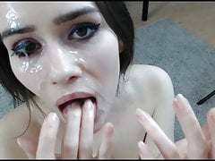 Euro Cutie Gets Her Face Painted