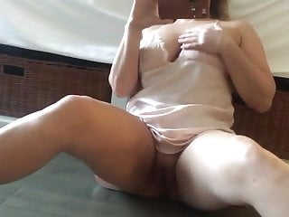 sexy milf bating for Husband