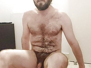 Hairy locked boy beats balls unlocks and cums...