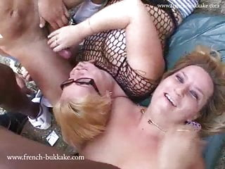 Two french blond bbw gets gang banged amp...