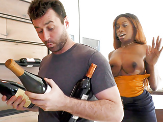 Wine consultant kinsley karter takes cock...