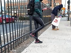 SLIM BEAUTY TEEN BLACK LEATHER PANTS