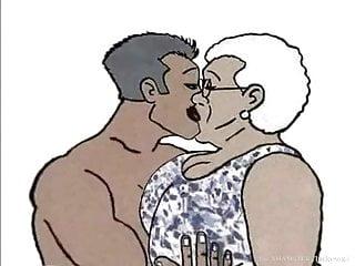 Black granny loving cartoon...