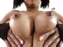 Nice Thai girl with big tits gets bareback creampie