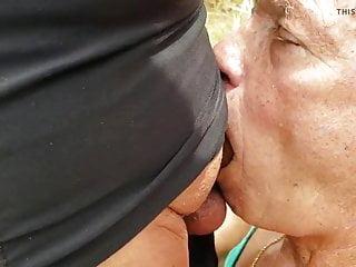 Horny crossddresser finds to suck off...