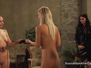 Mistress's Blonde Busty Slaves For Panties Lesbian Playing