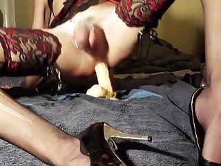 Sissy trap Anais dildo and fist pleasure