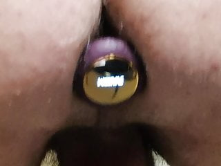 Jerk off and cum with anal plug vibrator
