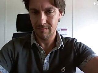 HandsomeGUy jerkoff at work