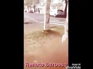 Shemale hooker fucks then pisses outside...