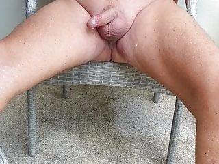 Nipple vib and cum