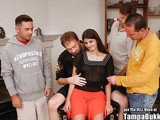 Gangbang Interracial porno: Arabian Petite Belly Dancing Gangbang