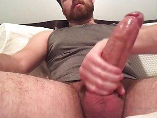 Bear huge cock cumshot on webcam