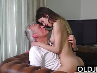 Old and Young Porn – Babysitter pussy fucked by old man