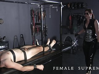 forced Essex Cum with milking Femdom Baroness eating
