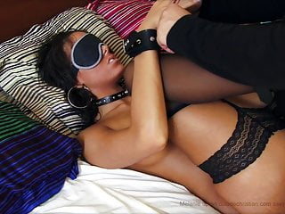 Melanie Memphis earns pounded whilst blindfolded and cuffed