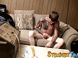 Freaky inked homo slut Blinx is ready for cock jerking time