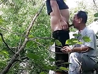 Asian in the forest...