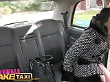 Female Fake Taxi British Spanish Lesbian Pussy Licking Taxi