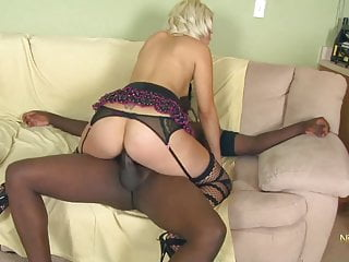 Bbc Milf Handjob video: Blond Cheating Wife in her first Porn Casting with BBC