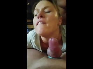 Gorgeous wife facing hubby by bbc...