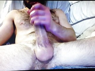 Hairy bear muscle daddy edges huge hung...