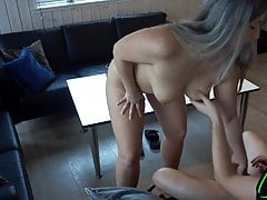 A horny little pig satisfies a tenant